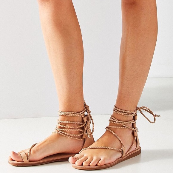 40f18e5deae Jeffrey Campbell Adios Gladiator Sandals Natural. NWT. Urban Outfitters